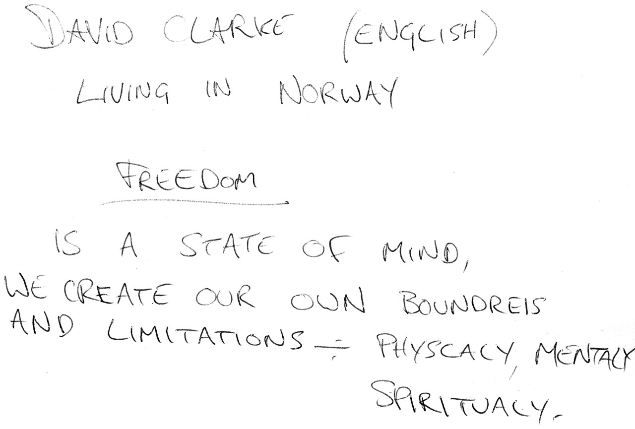 Photo of original, handwritten definition