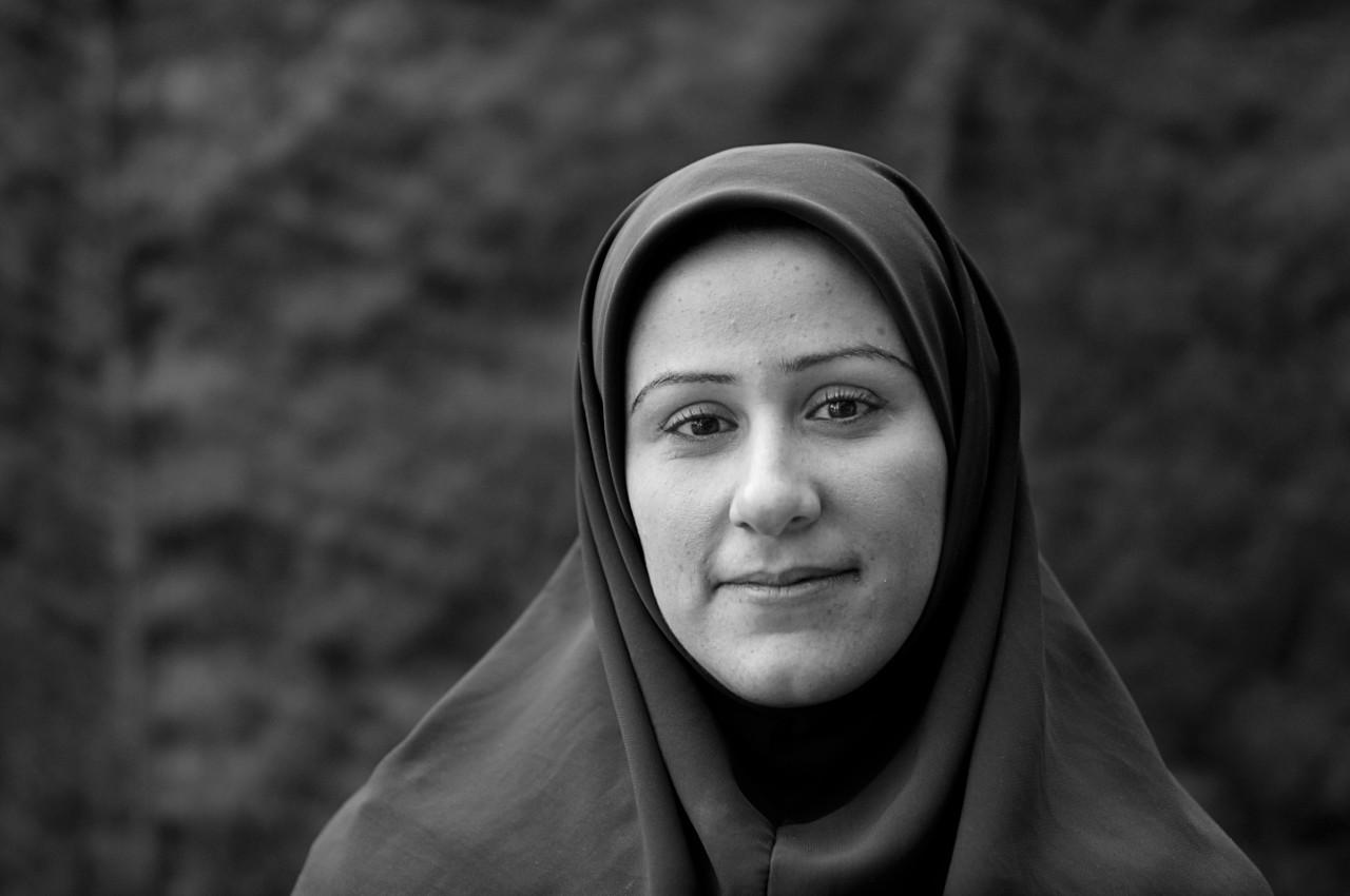 Portrait of Atefeh Akbari.