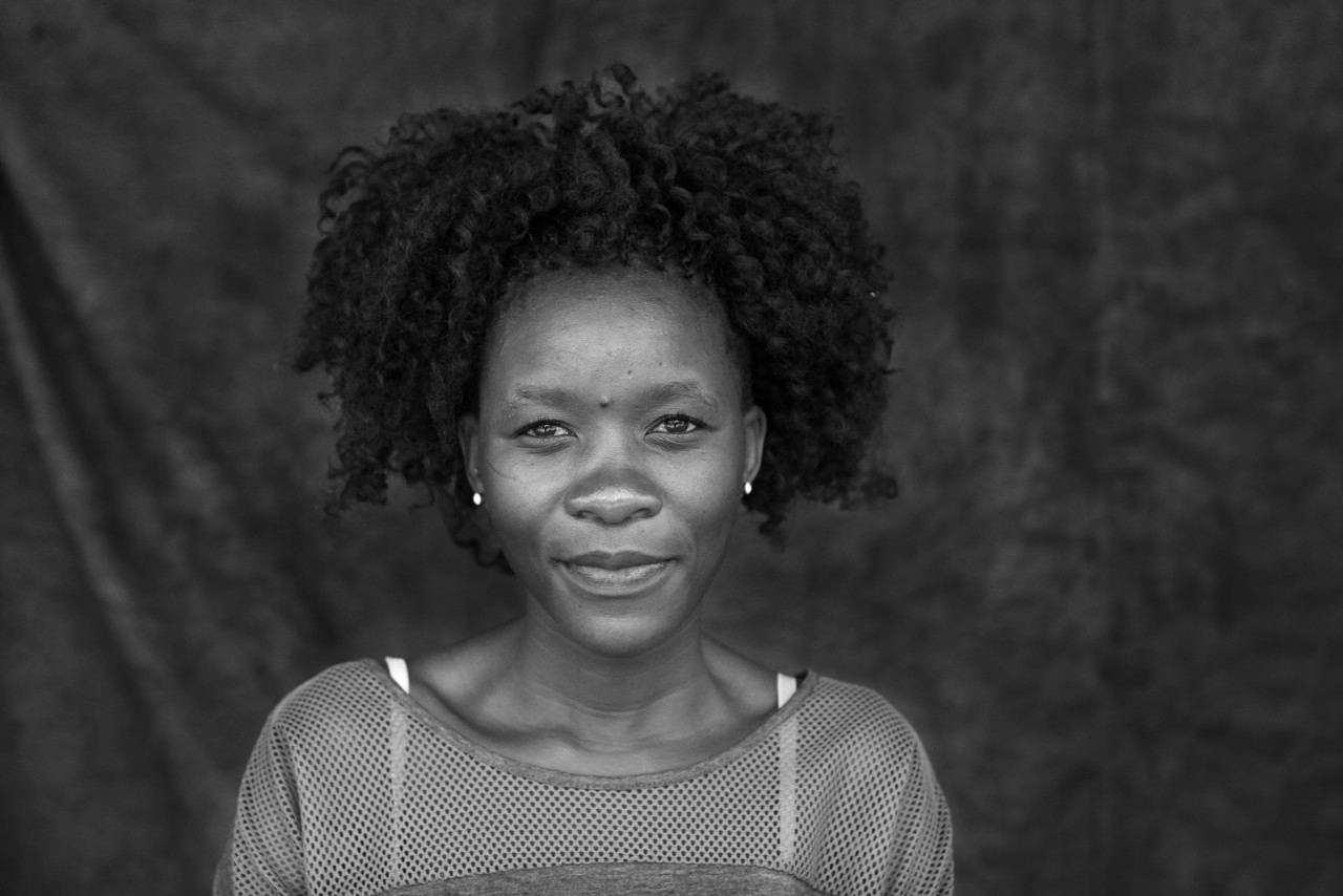 Portrait of Lebogang Grace Majafe.