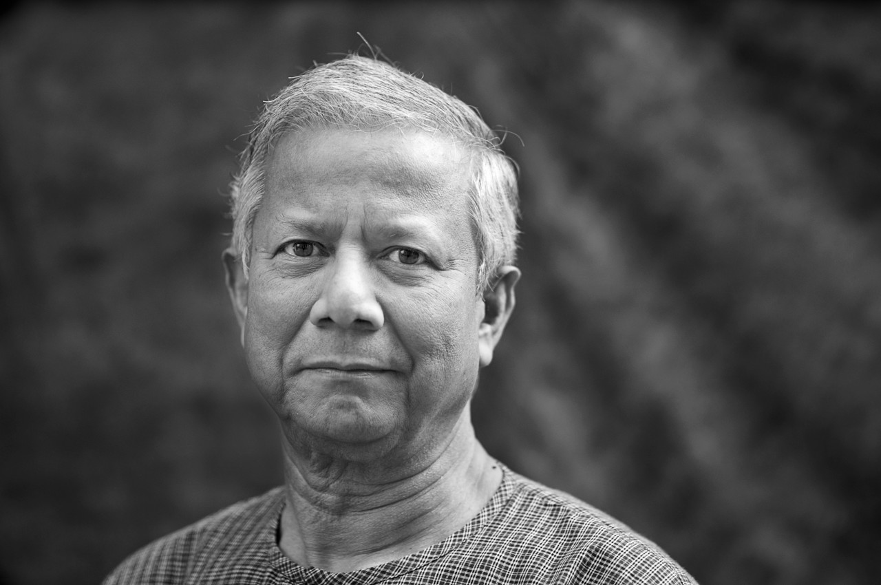 Portrait of Muhammad Yunus.